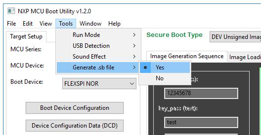 NXP-MCUBootUtility_setGenerateSbFile