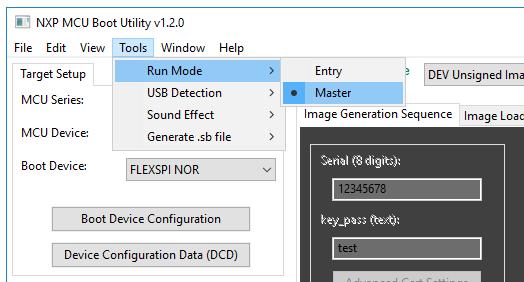 NXP-MCUBootUtility_setToolRunMode